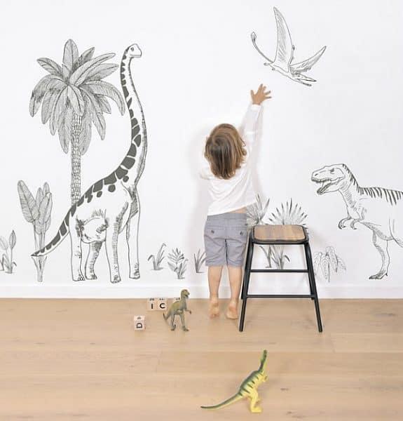 Muurstickers Brontosaurus Dino