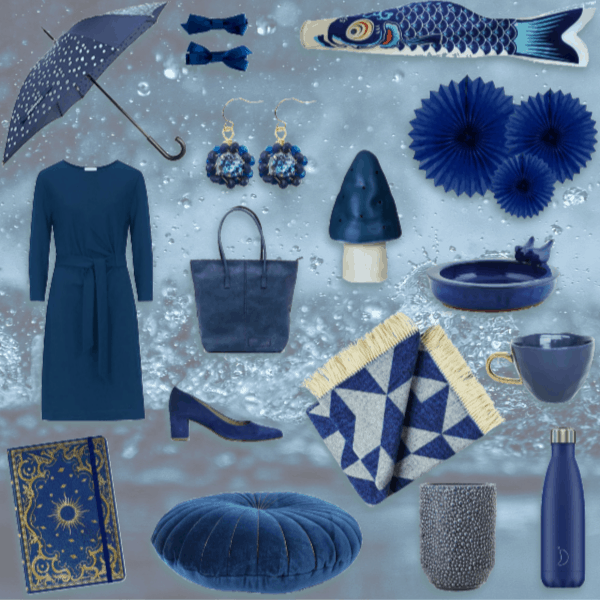Pantone color of the year 2020 classic blue collage kleur van het jaar