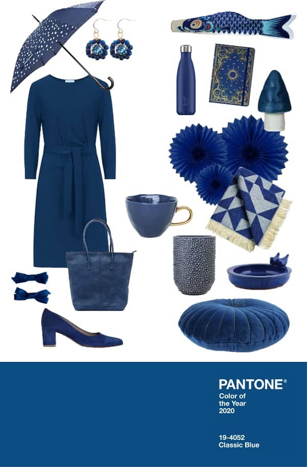 Pantone color of the year 2020 classic blue - kleur van het jaar trendkleur shopping