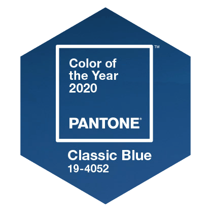 Pantone color of the year 2020 classic blue 19-4052 kleur van het jaar