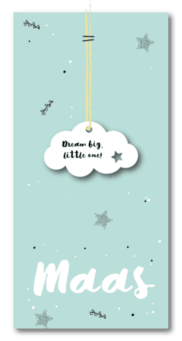 wolkje geboortekaartje