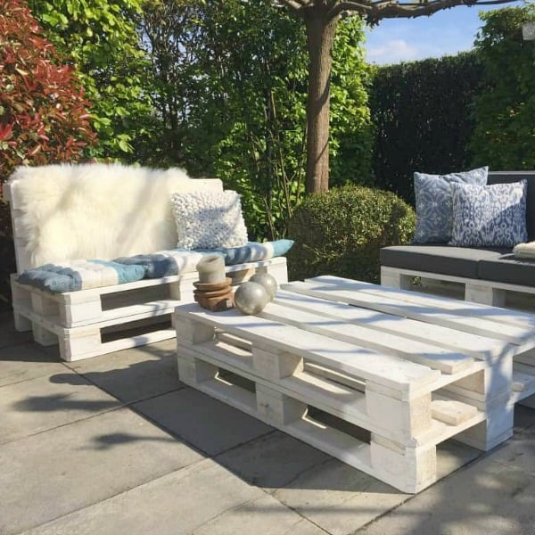 witte pallets loungeset