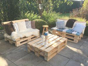 pallet meubels tuinset robuust