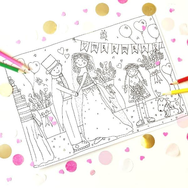 kleurplaat bruiloft studiobieb free printables