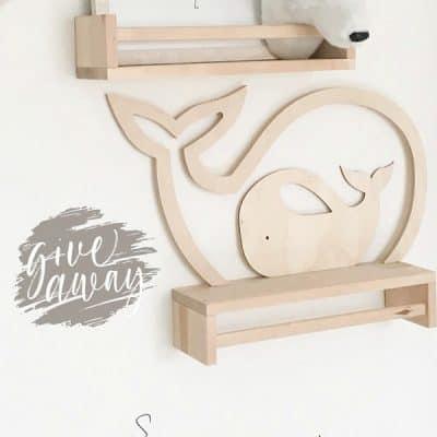 WIN: houten silhouet walvis set van Verslingerd aan Hout (€32)