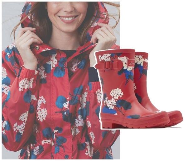 regenlaarzen red lily joules