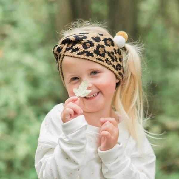 hoofdband leopard twist hippe haarbandjes voor meisjes