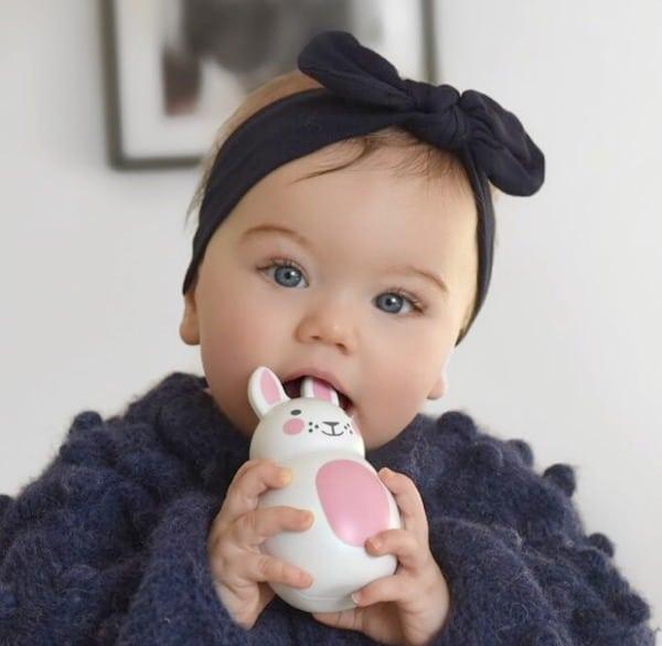 baby haarbandje met knoop navy donkerblauw