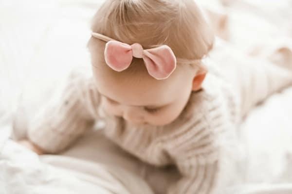 hippe haarbandjes voor meisjes haarbandje baby strik roze