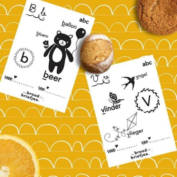 broodbriefjes - ABC voor kleine kinderen