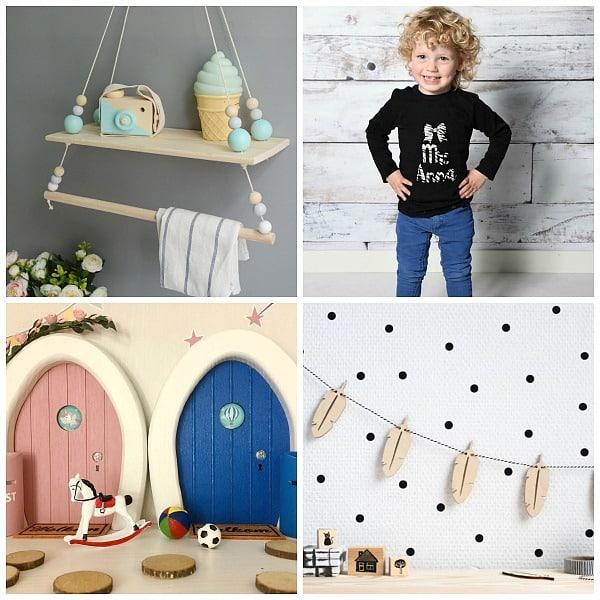 speelgoed kinderkamerdecoratie bedrukte kleding