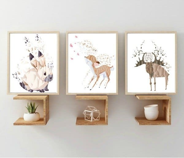 LM Baby Art Diamond Forest Friends kinderposters
