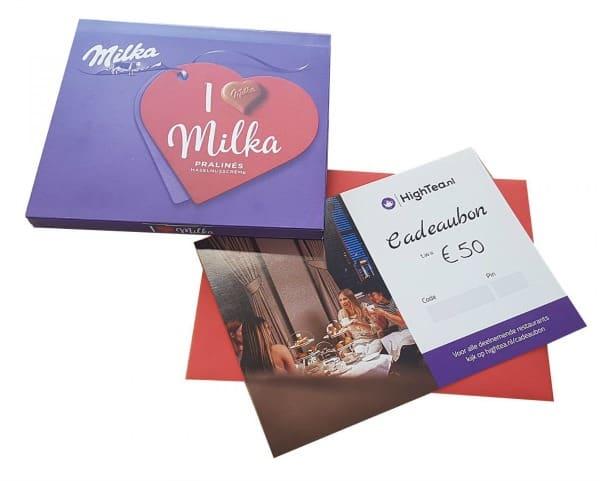 moederdag high tea cadeaubon milka chocoladebox