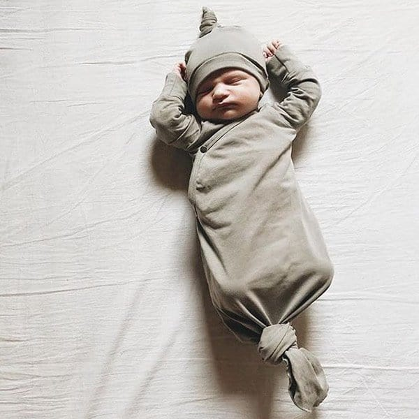 kwalitatieve babymerken Susukoshi Kimono Gown slaapzak Pebble 3-6M
