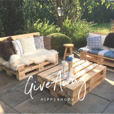 Musthave – Complete Loungeset van houten pallet tuinmeubels + tuinkussens