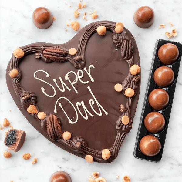 super dad chocolade hart vaderdagcadeau chocolade