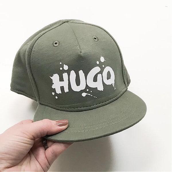 Drippin' Cap in army green met witte bedrukking
