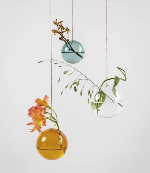 STUDIO ABOUT: Flower Bubble, glazen bol hang vaasje