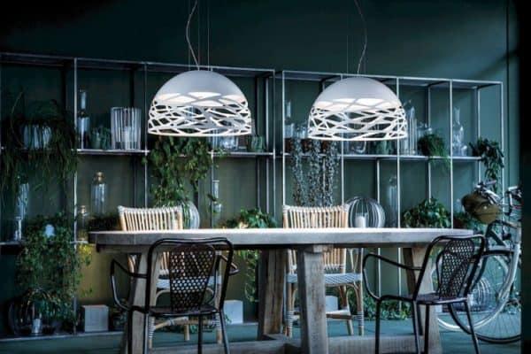 Kelly design hanglampen van wit metaal