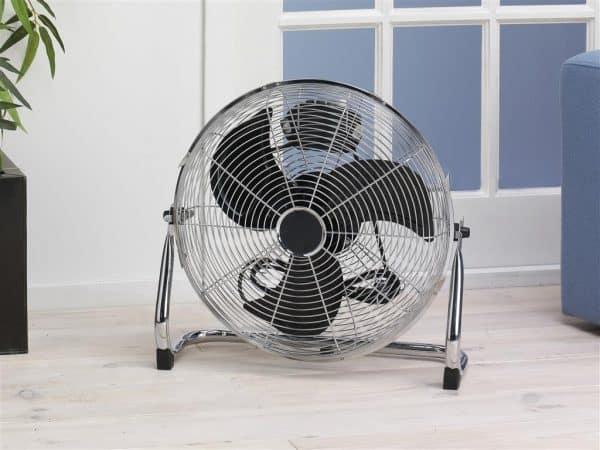 retro ventilator zilver chrome