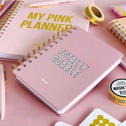 my pink planner totally doable hofje van kieka