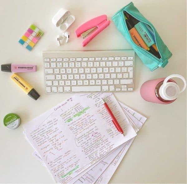 leren bureau aantekeningen