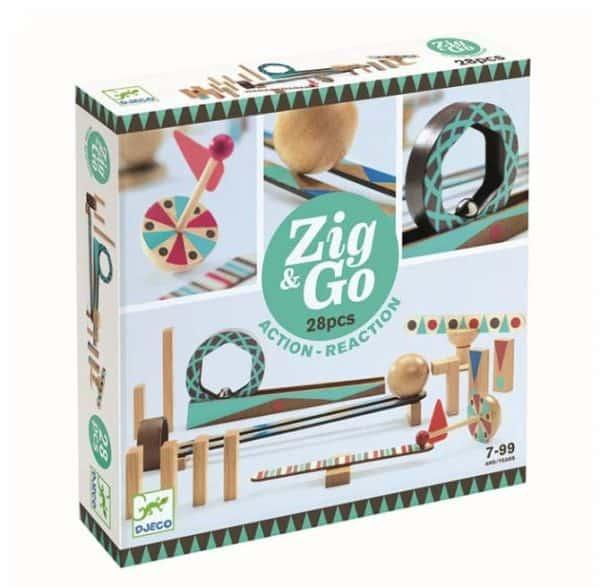 Djeco Djeco Zig & Go kettingreactie spel 28st € 29,95