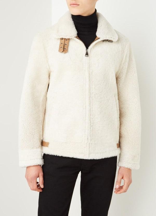 trends in herenjassen Moncler | reversible teddy jas met donsvulling
