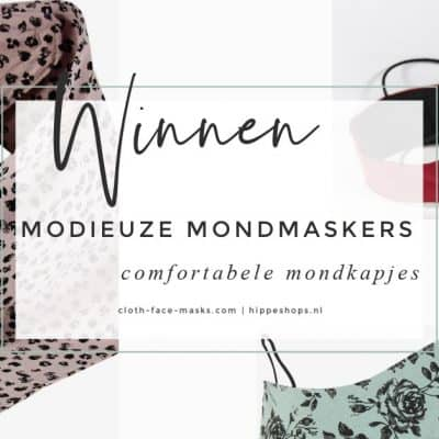 WIN: 3x modieuze mondmaskers van Cloth Face Masks (twv €22,50) naar keuze