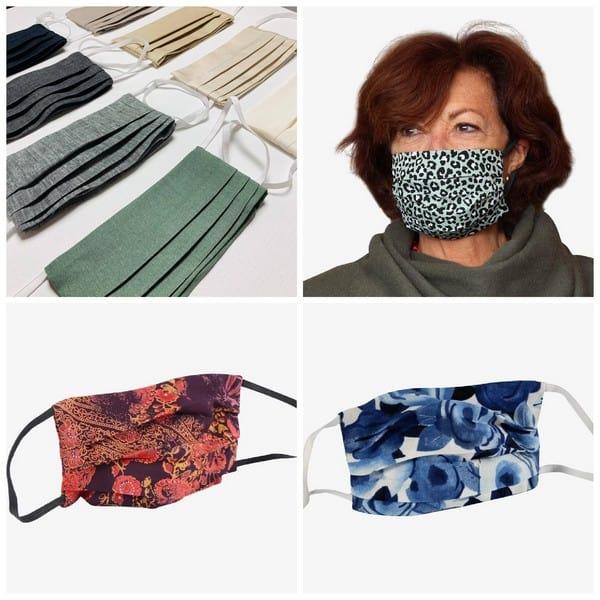 cloth face masks geplooide mondkapjes
