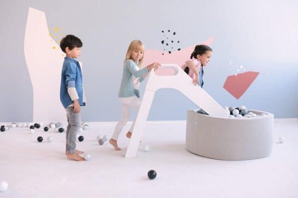 duurzaam speelgoed Misioo Houten Glijbaan | Wit
