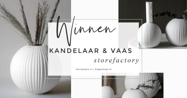 more2style storefactory vena vaas kandelaar