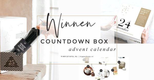 countdown box adventskalender kerstpakket pimpjetafel hippeshops