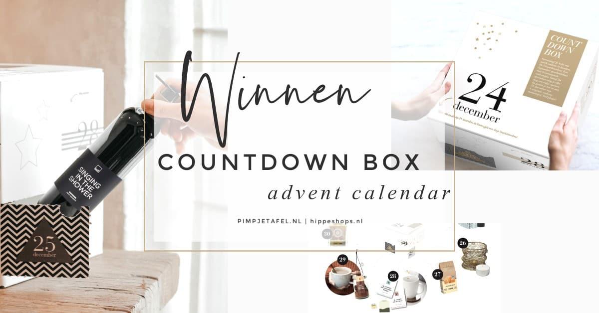 WINACTIE COUNTDOWN BOX PIMPJETAFEL ADVENTSKALENDER