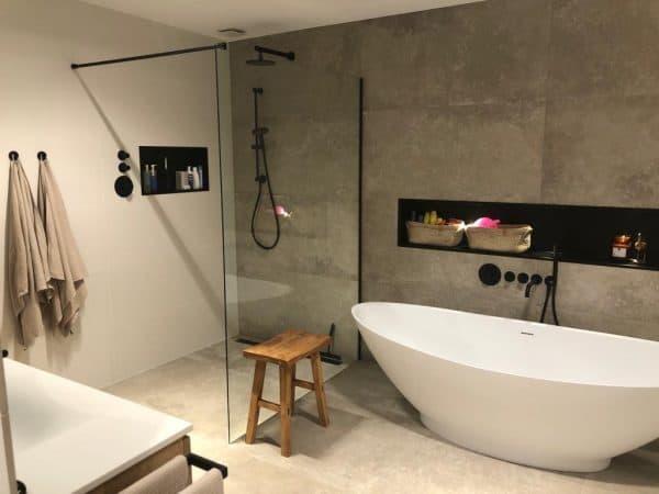 badkamer in beton look
