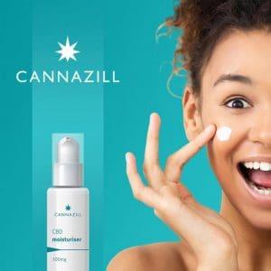 cbd moisturiser skincare cannazill akana
