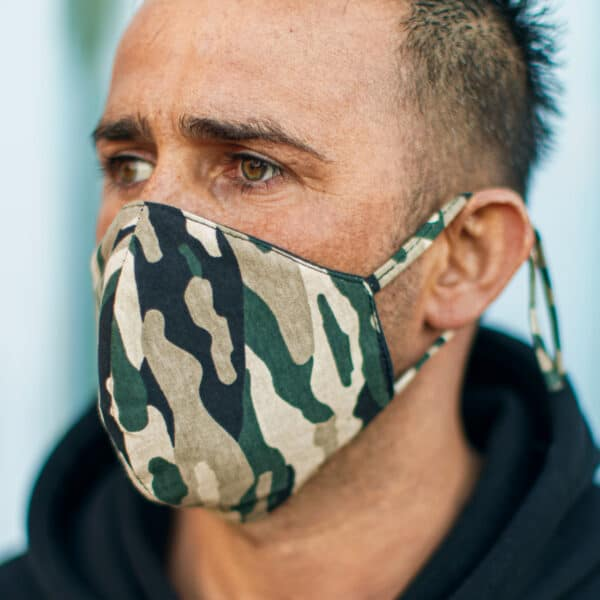 mondkapje camouflage zorgwereld