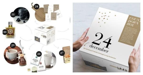 kerstpakket inspiratie countdown box