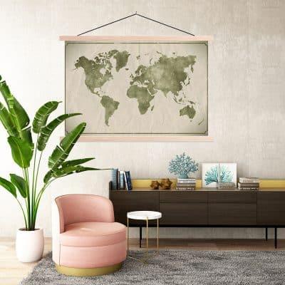De look voor 2021: breng stijl en gezelligheid met hippe wanddecoraties