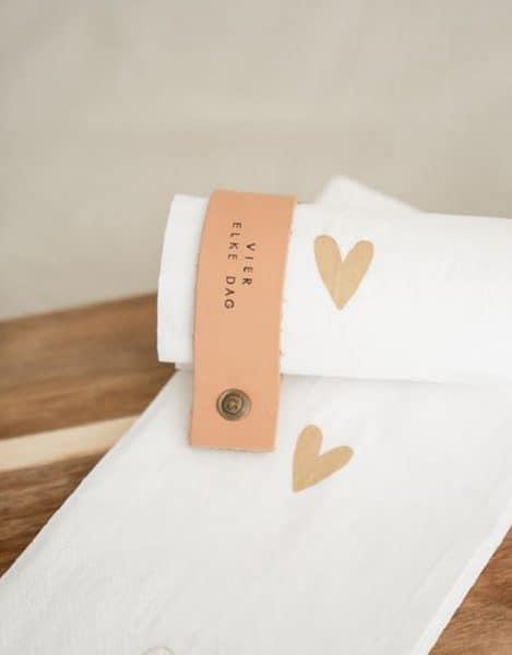 leren servetringen zusss bynoth valentijns brievenbus cadeau