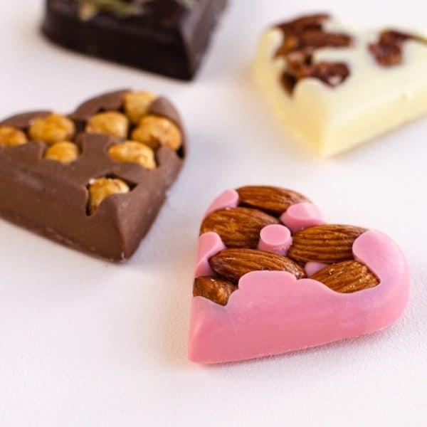 valentijn cadeau brievenbus chocolade hartjes