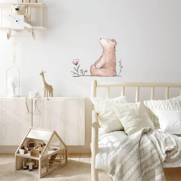 lm baby art beer en nijn muurstickers