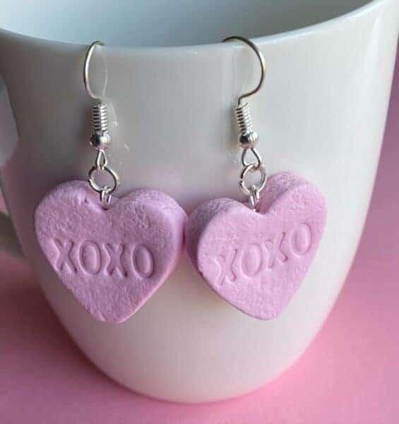 sweetstuff snoepsieraden oorbellen hartjes roze