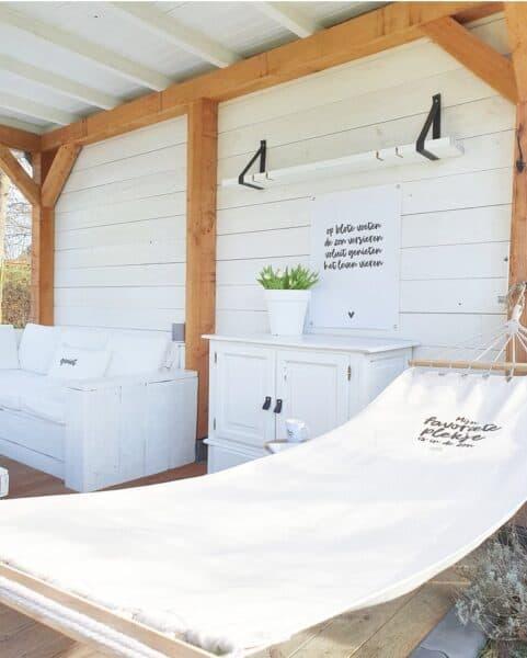 Zoedt Hangmat met tekst 'Mijn favoriete plekje is in de zon'