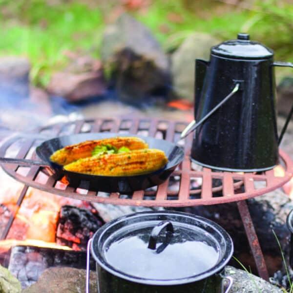 avontuurlijk buiten koken