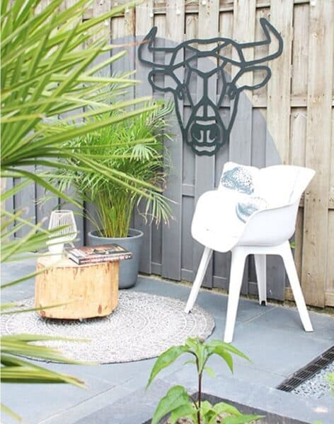 Fabryk Design Buiten houten wanddecoratie geometrie stier