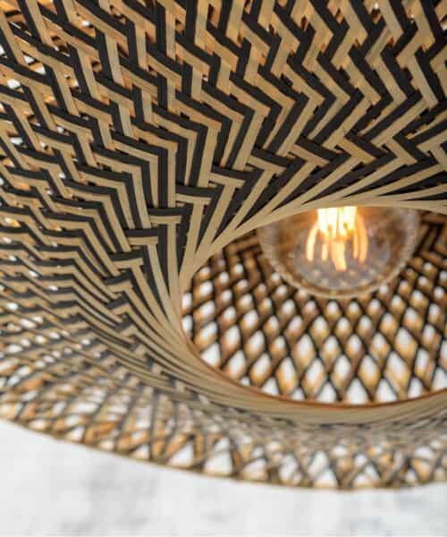 goodmojo gevlochten lamp bamboe