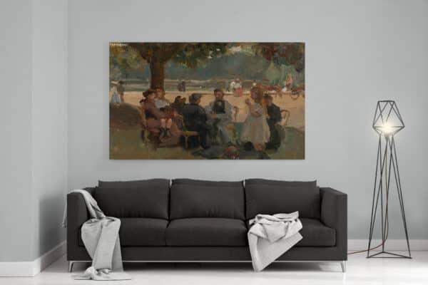 oude meesters op canvas In het Bois de Boulogne bij Parijs Isaac Israels