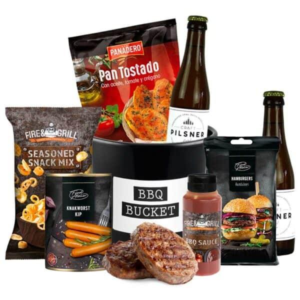 Barbecue Bucket cadeau pakket met drankjes naar keuze