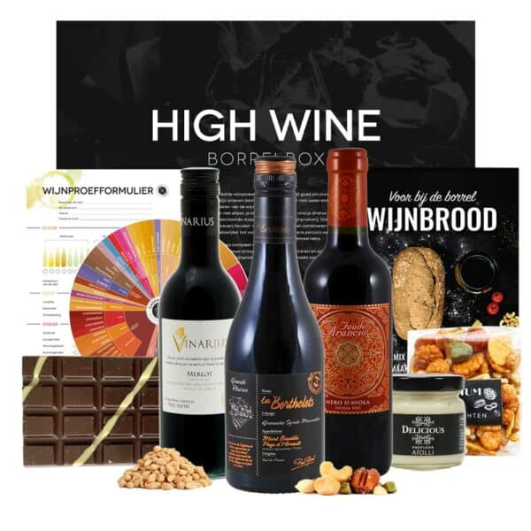 high wine wijnproeverij vaderdag cadeau borrelbox